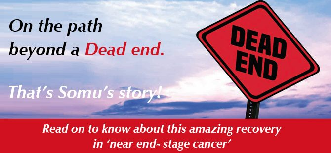 Amazing recovery in 'near end- stage cancer'