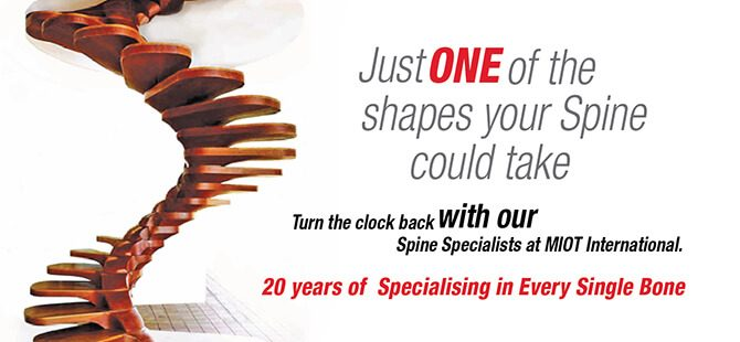 Turn the clock back with our Spine Specialists at MIOT International.