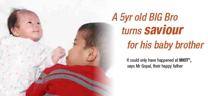 A 5yr old BIG Bro turns saviour for his baby brother