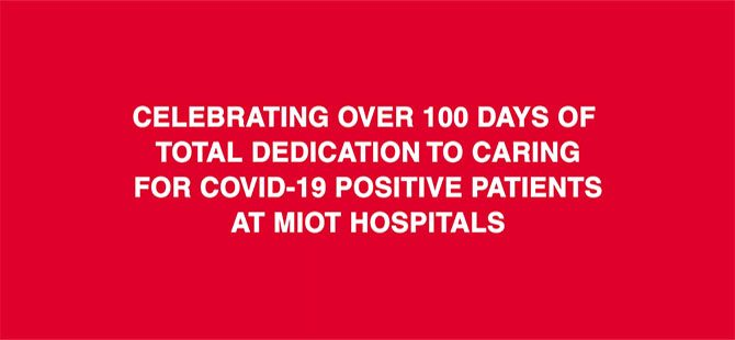 Celebrating over 100 days of total dedication to caring for COVID 19 positive patients